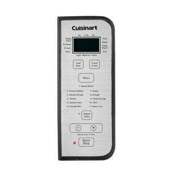Control panel view of Cuisinart Automatic Bread Maker