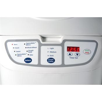 Control panel view of Oster 58-Minute Expressbake bread machine