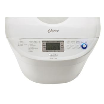 Control panel view of Oster CKSTBRTW20 Expressbake Bread machine
