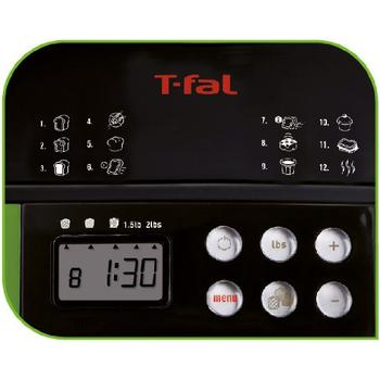 Control panel view of T-fal Balanced Living Bread Maker