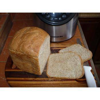 Freshly baked bread out of Breadman TR875 Bread machine