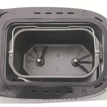 Non-stick pan with dual knead blade in West Bend 41300 bread machine