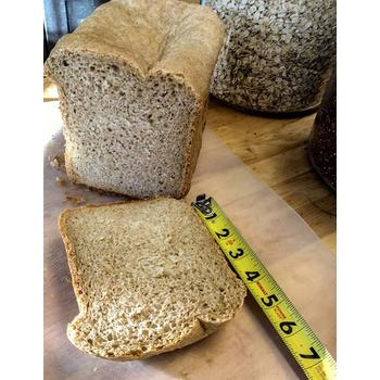 Size of bread made using Black and Decker Bread Maker