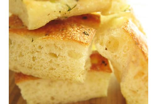 Perfectly textured focaccia bread