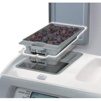 Placement of fruit and nut dispenser into Panasonic SD-RD250 Bread machine