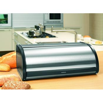 Table top placement of highly recommended Roll Top Bread Bin