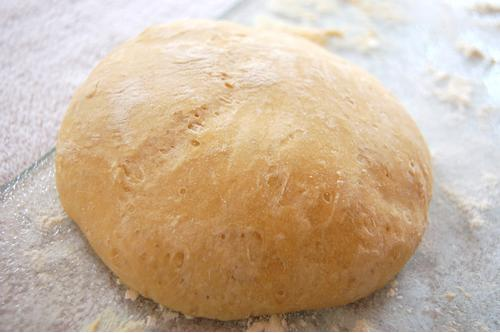 Perfect pizza dough made with breadmaker