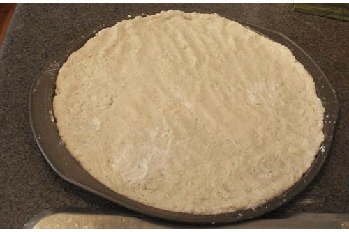 Pizza dough made with bread maker