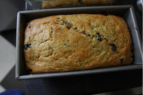 Blueberry Bread Loaf Fresh from the Bread Maker